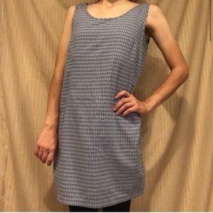 Patagonia Plaid Dress Medium Blue Sleeveless